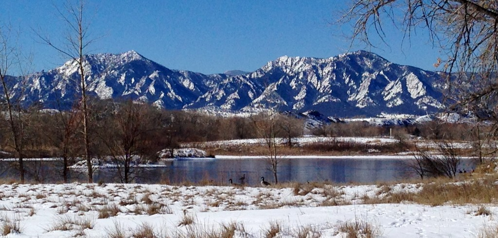 Sawhill Ponds View of Flatirons