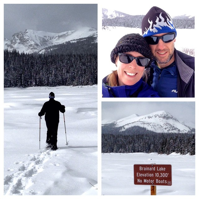 Brainard Lake Snowshoe Collage