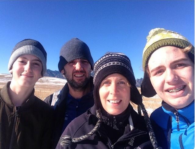 Familyvance at Flatirons Vista Trail in Boulder